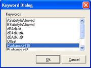 KeyWrds Dialog