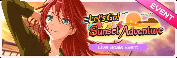 Let's Go! Sunset Adventure Worldwide Event Banner