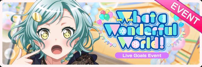 What a Wonderful World! Worldwide Event Banner