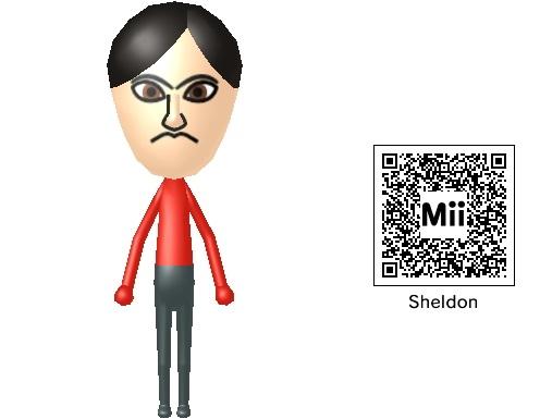 Image Sheldon In Mii Form Plus Qr Codejpg Banger Universe Wiki