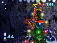 Der goldene Stern am Weihnachtsbaum