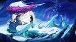 Arte del nivel de glaciar de Playtonic