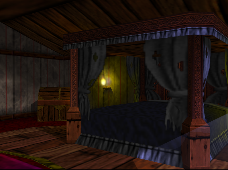 The Bedroom Is An Area Located In Mad Monster Mansion. It Is Located On The  Top Floor Of The Mansion. It Contains A Dresser And A Queen Sized Bed.