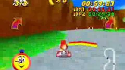 Conker In Diddy Kong Racing N64