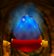 Blue Egg with Pillow