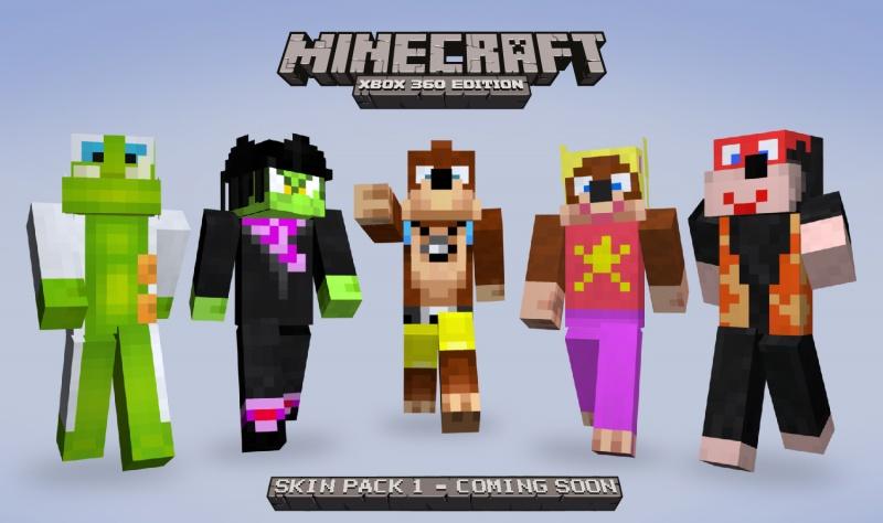 Minecraft Xbox Edition BanjoKazooie Wiki FANDOM Powered - Minecraft skins fur xbox 360