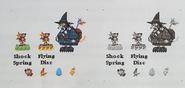 Grunty´s curse bocetos de personajes