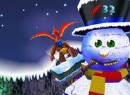 Giant snowman bk