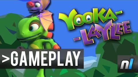 Yooka-Laylee Gameplay Footage