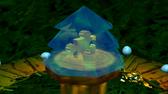 Pico congelado dentro del arbol