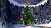 Pico congelado arbol de navidad