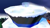 Pico congelado sombrero del muñeco