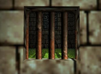 Prison bars look