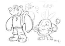 Banjo y kazooie serie animada bosquejo