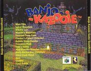 Banjo Kazooie soundtrack backcover