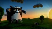 Vaca robotica en el trailer