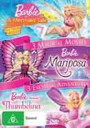 Barbie A Mermaid Tale; Mariposa; Thumbelina