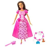 Barbie as The Island Princess African American Doll with Pink Dress