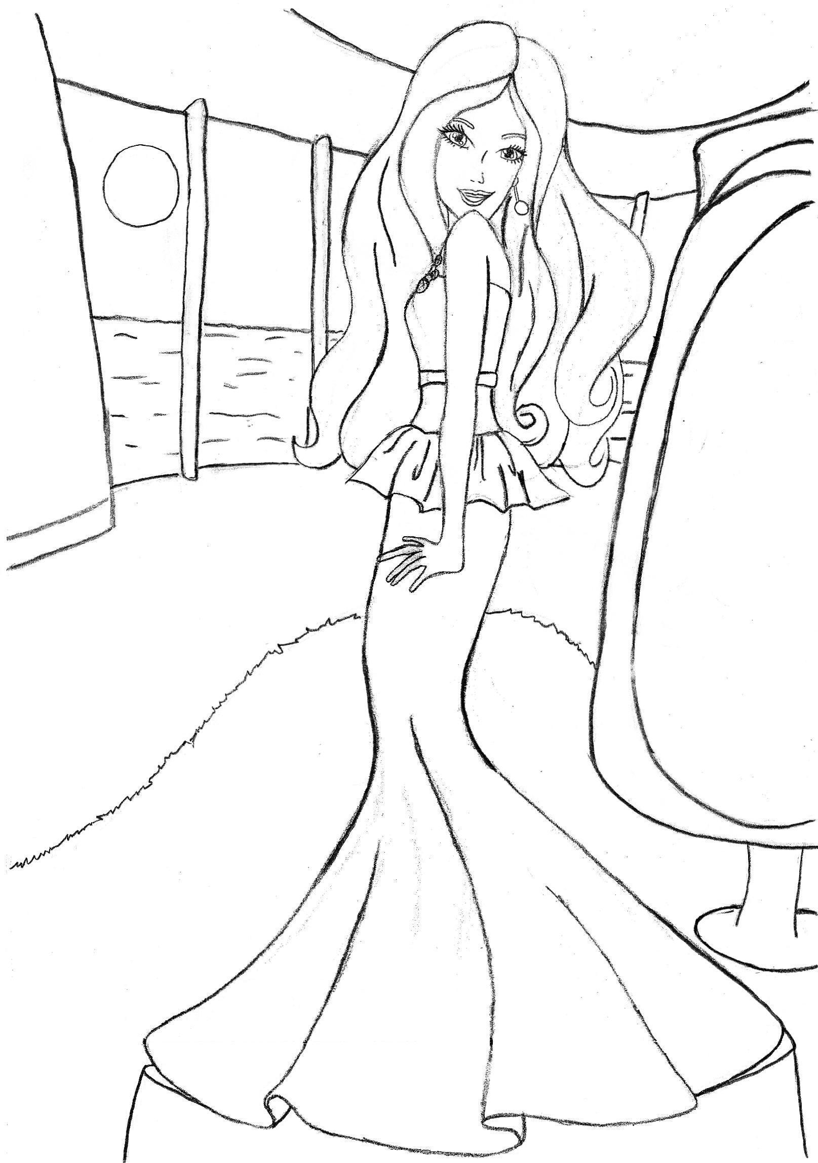 Coloring Pages Online Free Printable Barbie Fresh In Painting Kids