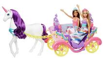 Mattel Barbie Dreamtopia Unicorn – Sweetville Carriage and Princesses