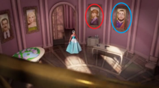 Portriats of Miss privett and Royal Judge (circled)