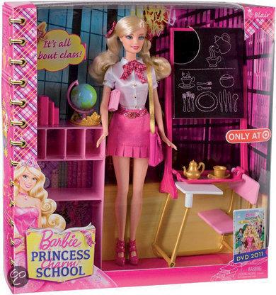 Barbie Princess Charm School Classroom Playset Movies