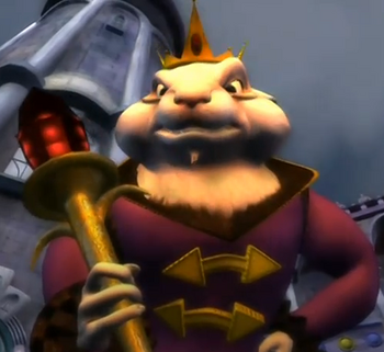 Mouse king with sceptre