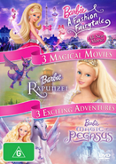 Barbie A Fashion Fairytale; Rapunzel; Magic of Pegasus DVD cover