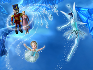 Barbie in the Nutcracker Official Still Ice Cave Clara Eric Snow Faeries