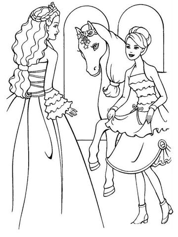 filechildren free printable barbie coloring pages new