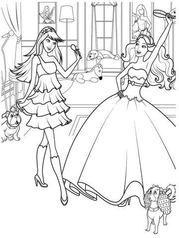 FileFree Colouring Pages Free Printable Barbie Coloring