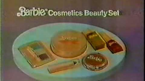VINTAGE 70'S OR 80'S BARBIE COSMETICS BEAUTY SET COMMERCIAL