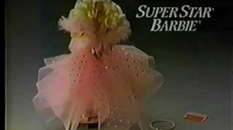 HQ VINTAGE 80'S SUPERSTAR BARBIE W GIRLS AT THEATRE COMMERCIAL