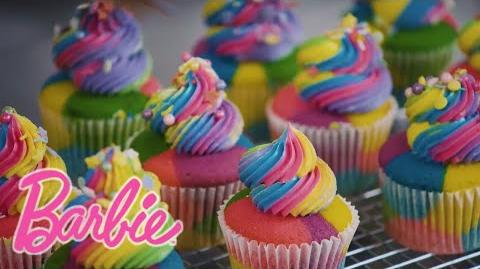 Barbie Rainbow Cupcakes