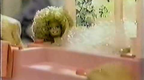 VINTAGE 80'S BARBIE BUBBLE BATH COMMERCIAL