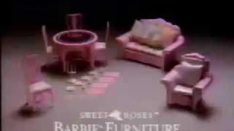 VINTAGE 80'S BARBIE SWEET ROSES FURNITURE COMMERCIAL