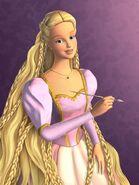 Barbie jako Roszpunka - art
