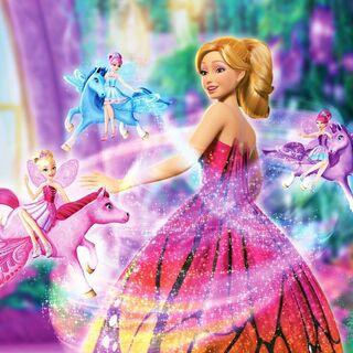 L'image officielle ou les petites fées miroitante transforment la robe de Mariposa
