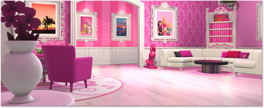 Superieur Location Barbie Dreamhouse Living Room.png