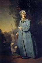 Catherine II walking by V.Borovikovskiy (1794, Tretyakov gallery)