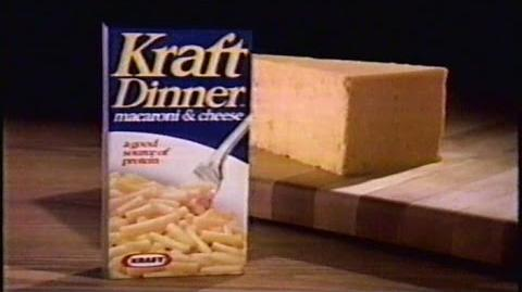 A commercial for Kraft Dinner from 1989, around when the song was written