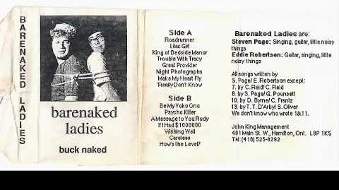 Barenaked Ladies - Buck Naked (1989 Demo Tape) - NEW RIP 2018