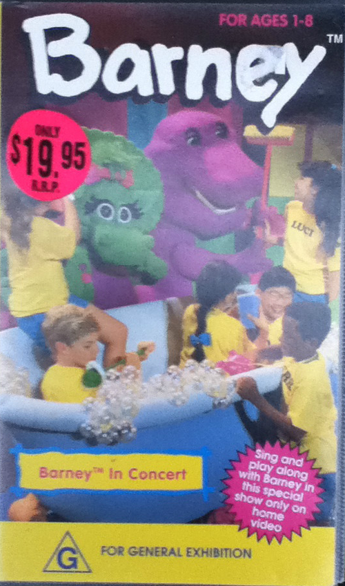 Image Barney In Concert Austrailian VHS Tape Coverpng Barney - Barney and the back yard gang barney in concert