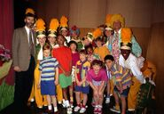 Backstage with Cast At Barney Live In NYC