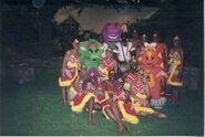 Barney, Baby Bop, Riff, Dancers & Drummers in Kenya