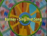 Barney - Sing That Song