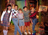 Barney & Friends Season 3 Cast (Min, Tosha, Julie, Carlos, & Shawn