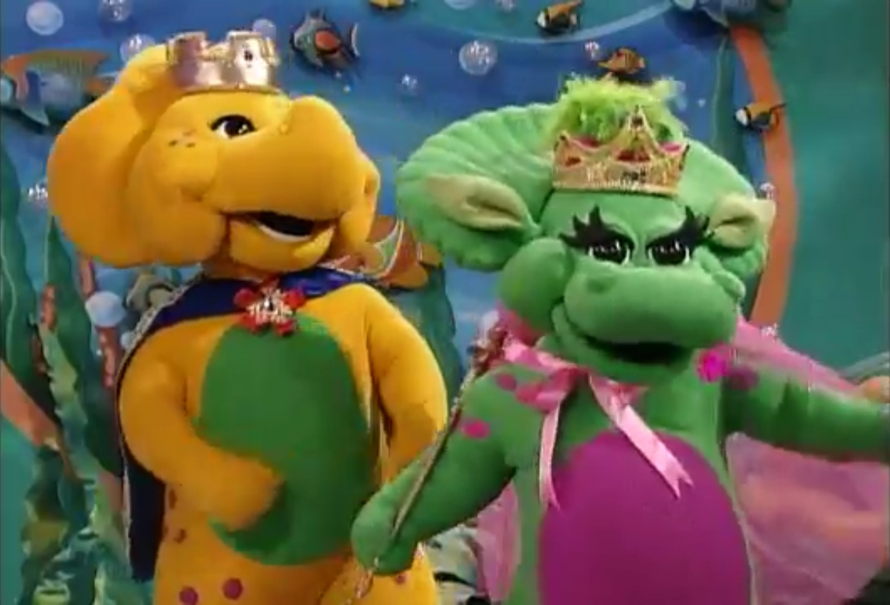 image king bj and queen baby bop s dwb jpg barney wiki