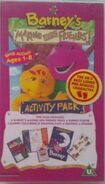 Barney's Making New Friends 1997 UK VHS Cover