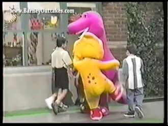 Barney the Dinosaur Outtakes - Crew Pranks (Here Comes the Firetruck - S6E18)